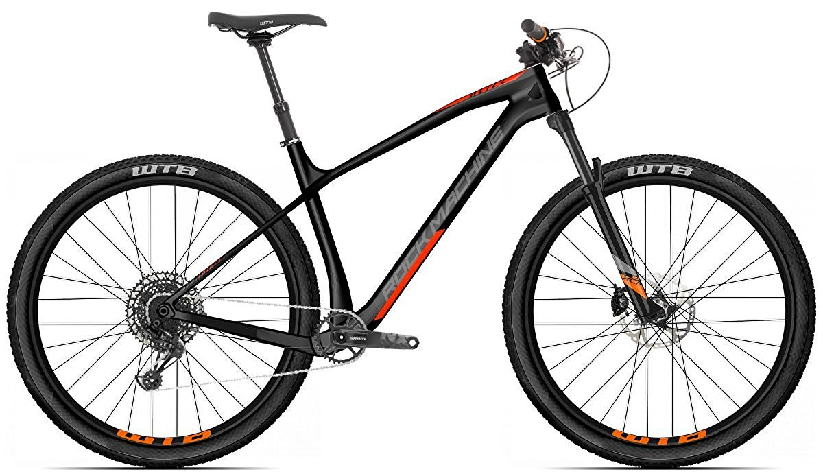 "Rock Machine Blizz CRB 20-29 2021 - horské kolo pánské 29"" - Mat Black/Dark Grey/Orange  - vel. 21"" (XL)"
