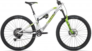 "Rock Machine Blizzard TRL 90-29 2020 - celoodpružené horské kolo 29"" - Gloss Silver/DVO Green/Black"